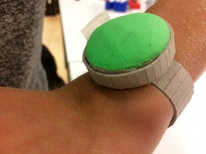 Our device can be worn on the wrist