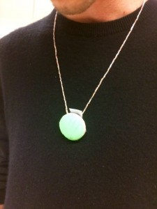The device can be worn as a necklace as well